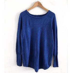 Apt.9 sweater pullover size L blue